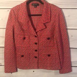 St.John red wool jacket blazer size 12